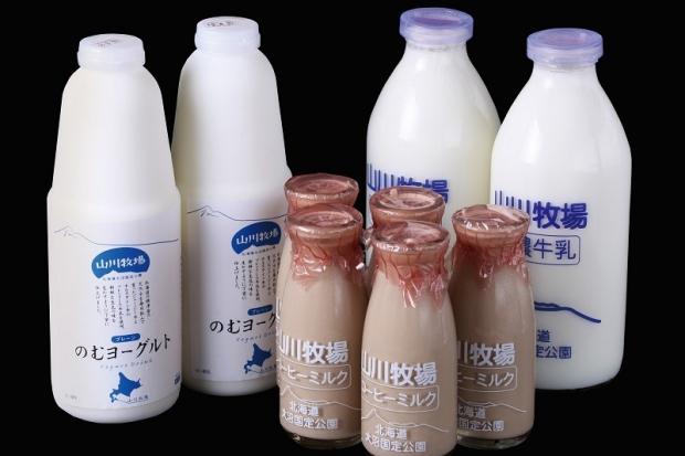 函館大沼の「山川牧場」の人気商品のセット/エプイ