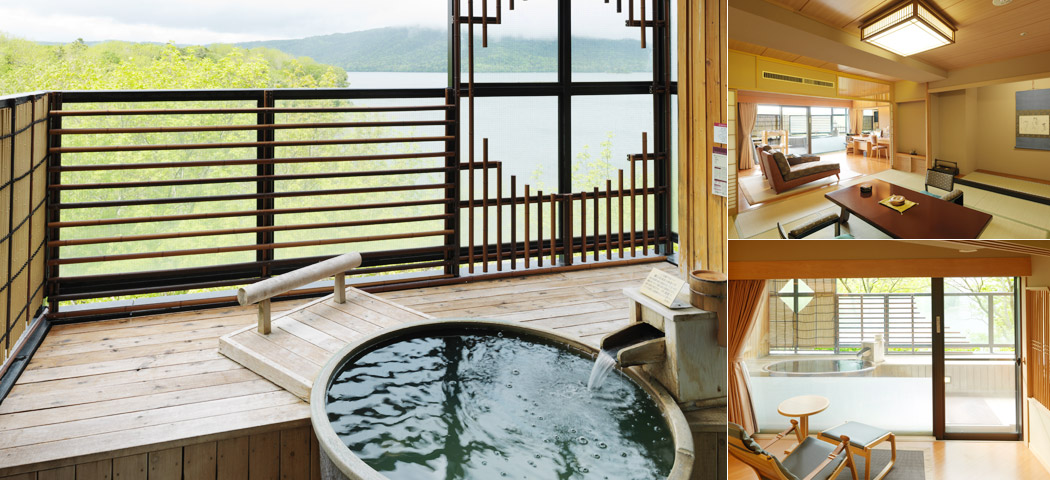 Japanese style room with open-air bath image