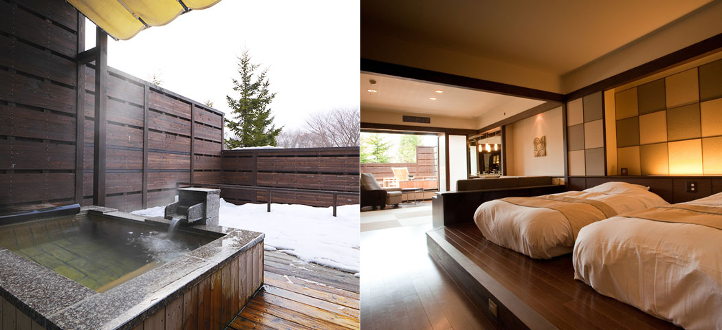 Western and Japanese style room with open-air bath image