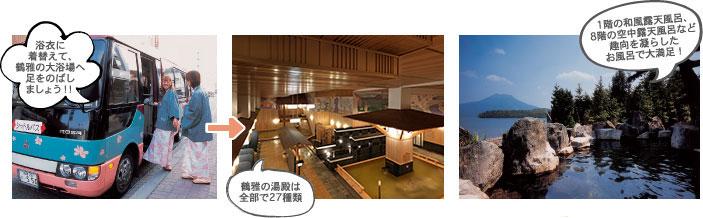 あかん遊久の里鶴雅のお風呂は全部で27種類